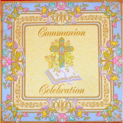 Blessed Events Communion Luncheon Napkins (16) - Party Zone USA