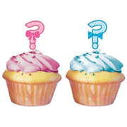 Bow or Bowtie Cupcake Toppers (12) - Party Zone USA
