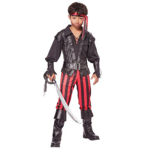 Briny Buccaneer Pirate Child's Costume - Boy's - Party Zone USA