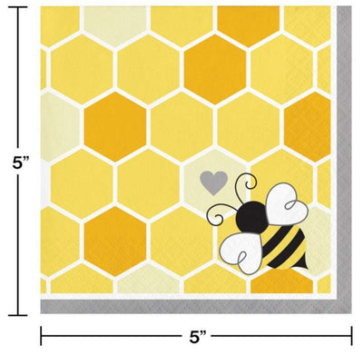 Bumblebee Baby Beverage Napkins (16) - Party Zone USA