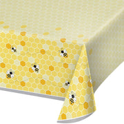 Bumblebee Plastic Table Cover - Party Zone USA