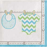 Bundle of Joy Boy Beverage Napkins (16) - Party Zone USA