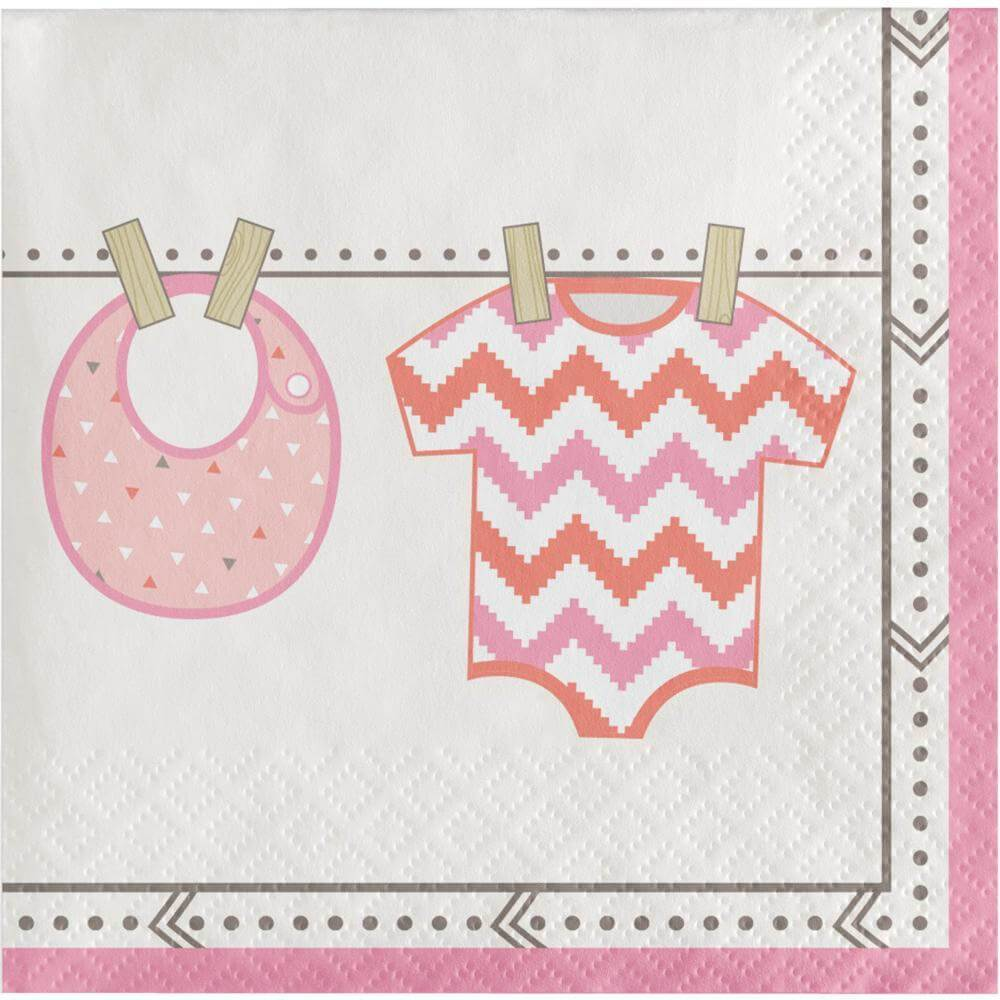 Bundle of Joy Girl Beverage Napkins (16) - Party Zone USA