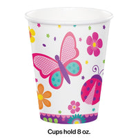 Butterfly Garden Party Cups (8) - Party Zone USA