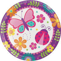 Butterfly Garden Party Dinner Plates (8) - Party Zone USA