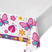 Butterfly Garden Party Table Cover - Party Zone USA