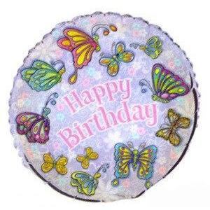 Butterfly Happy Birthday Mylar Balloon - Party Zone USA