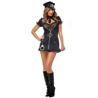 Candy Cop Adult Police Officer Costume - Women's - Party Zone USA