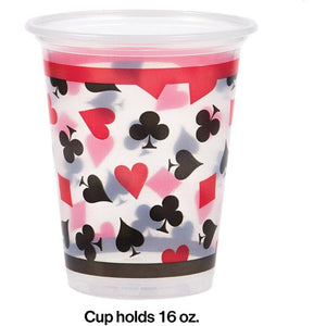 Card Night Party Plastic Cups (8) - Party Zone USA