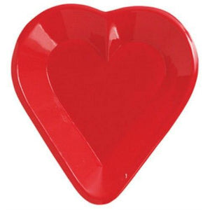 Card Party Mini Snack Tray - HEART - Party Zone USA