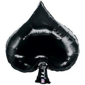 Casino Spade Shaped Balloon - Party Zone USA