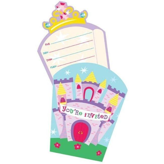 Castle Fun Party Invitations (8) - Party Zone USA