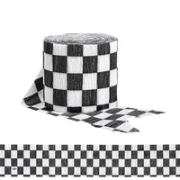 Checkered Flag Crepe Paper Streamers - Party Zone USA