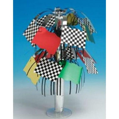 Checkered Flag Mini Foil Centerpiece - Party Zone USA