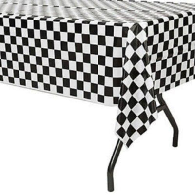 Checkered Flag Table Cover - Party Zone USA