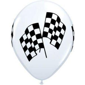 Checkered Racing Flag Balloons (10) - Party Zone USA