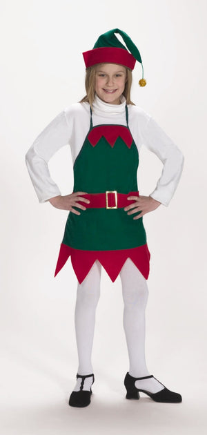 Childs Elf Holiday Apron with Hat - Party Zone USA