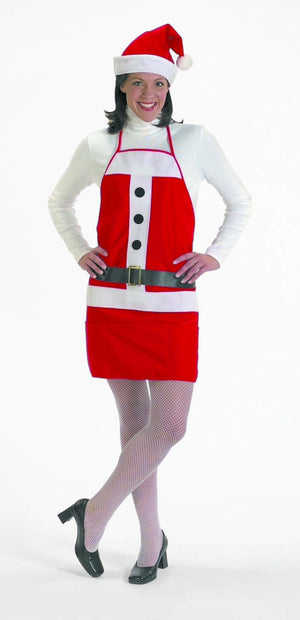Christmas Holiday Apron w/ Santa Hat - Party Zone USA