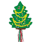 Christmas Tree Pull String Pinata - Party Zone USA
