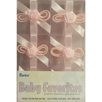 Clear Favor Boxes - Pink Rose (6) - Party Zone USA