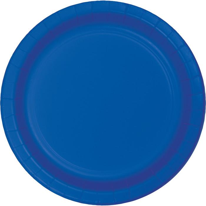 Cobalt Blue Dinner Plates (24) - Party Zone USA