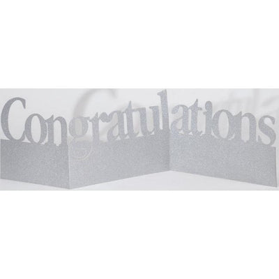 Congratulations Glitter Table Centerpiece - Party Zone USA
