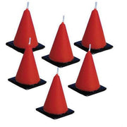Construction Cone Birthday Candles (6) - Party Zone USA