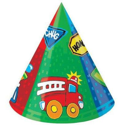 Construction Pals Party Hats (6) - Party Zone USA