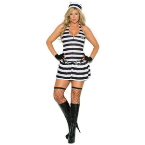 Convict Cutie Costume - Plus - Party Zone USA