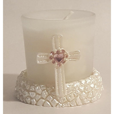 Cross Favor Votive Candle (1) - Party Zone USA
