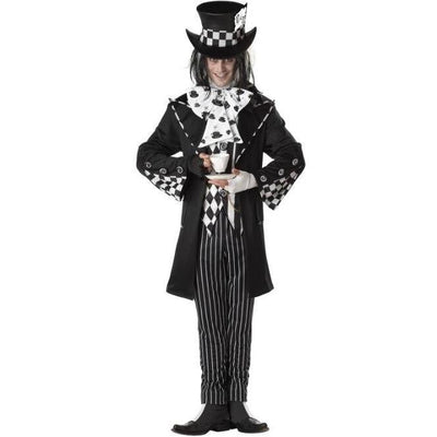 Dark Mad Hatter Adult Costume - Men's - Party Zone USA
