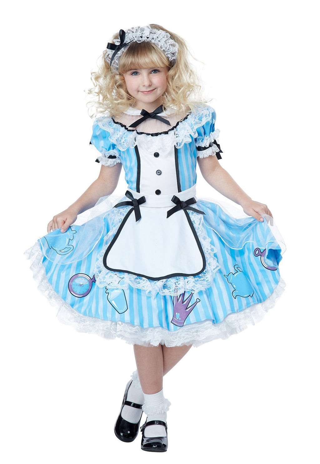Deluxe Alice in Wonderland Girl's Costume - Party Zone USA