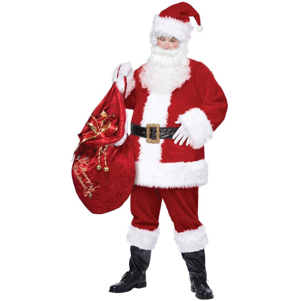 Deluxe Santa Suit Adult Costume - Plus - Party Zone USA