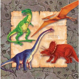 Diggin for Dinosaurs Beverage Napkins (16) - Party Zone USA