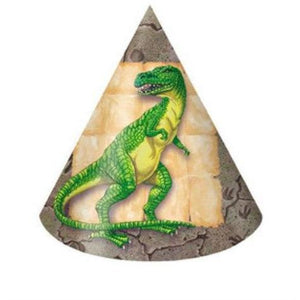 Diggin for Dinosaurs Party Hats (8) - Party Zone USA