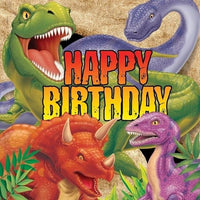 Dino Blast HAPPY BIRTHDAY Lunch Napkins (16) - Party Zone USA