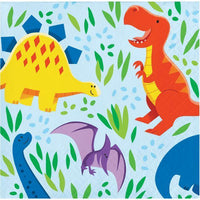 Dinosaur Friends Beverage Napkins (16) - Party Zone USA