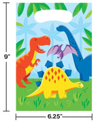 Dinosaur Friends Favor Bags (8) - Party Zone USA