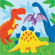 Dinosaur Friends Lunch Napkins (16) - Party Zone USA