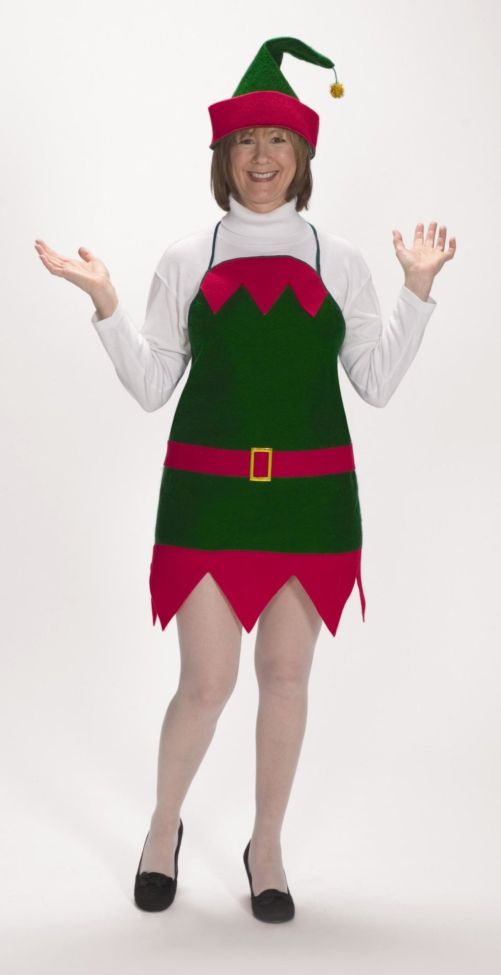 Elf Holiday Apron with Hat - Party Zone USA