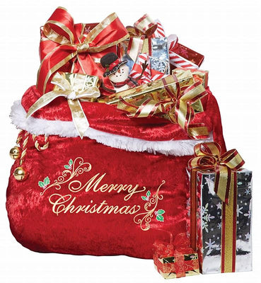 Embroidered Santa Gift Sack - Party Zone USA