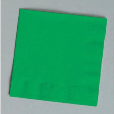 Emerald Green Beverage Napkins (30) - Party Zone USA