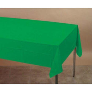 Emerald Green Plastic Table Cover - Party Zone USA