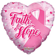 Faith & Hope Breast Cancer Awareness Balloon - Party Zone USA