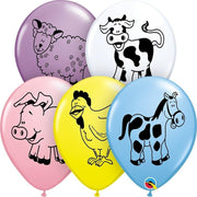 Farm Animal Latex Balloons (25) - Party Zone USA