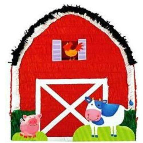 Farm Barn Pull String Pinata - Party Zone USA