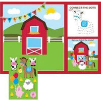 Farmhouse Fun Activity Placemats (8) - Party Zone USA