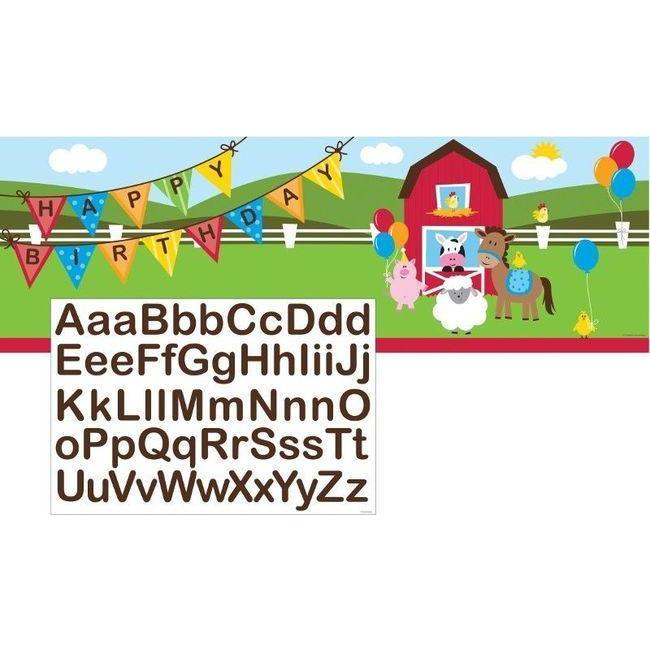 Farmhouse Fun Giant Banner - Party Zone USA