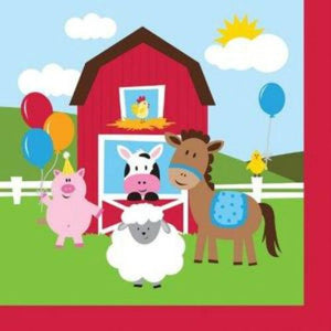 Farmhouse Fun Lunch Napkins (16) - Party Zone USA