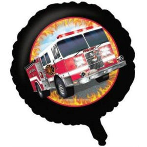 Fire Truck Balloon - FIRE WATCH - Party Zone USA